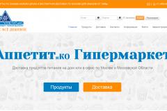 """""""АппетитиКо"""", интернет гипермаркет, доставка продуктов на дом в Москве"""