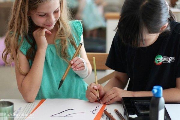 """Мастер-класс по японской каллиграфии для детей в кафе """"АндерСон"""", Москва"""