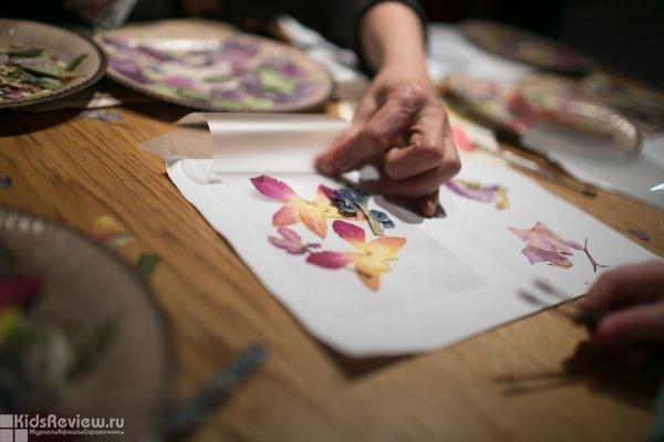 """""""По следам осени"""", мастер-класс для детей по работе с кленовыми листьями в ресторане Food Embassy, Москва"""