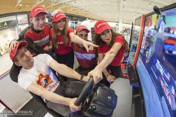 """PROFI (""""Профи""""), профессиональный симулятор гонок в """"МЕГЕ"""", Новосибирск"""