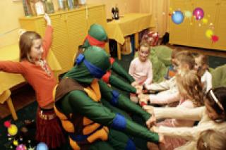"""""""Черепашки-ниндзя спешат на помощь!"""", игровая программа для детей от 3 лет в """"Ого-Городе"""" на Тульской, Москва"""