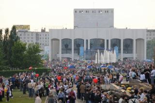 Праздничный концерт к Дню Победы 2015 на площади перед Театром-Театром, Пермь