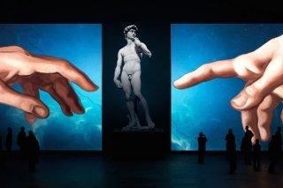 """""""Микеланджело. Сотворение мира"""", мультимедийная выставка для всей семьи в центре дизайна ARTPLAY, Москва"""