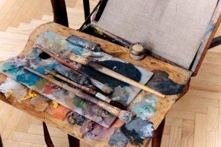 Мастер-класс по рисованию, пейзаж в технике гуашь губкой, Музей Изо, Петрозаводск