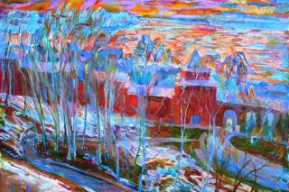 Mon Paradis, выставка живописных работ Алисы Казаковой в Доме Сироткина, Нижний Новгород